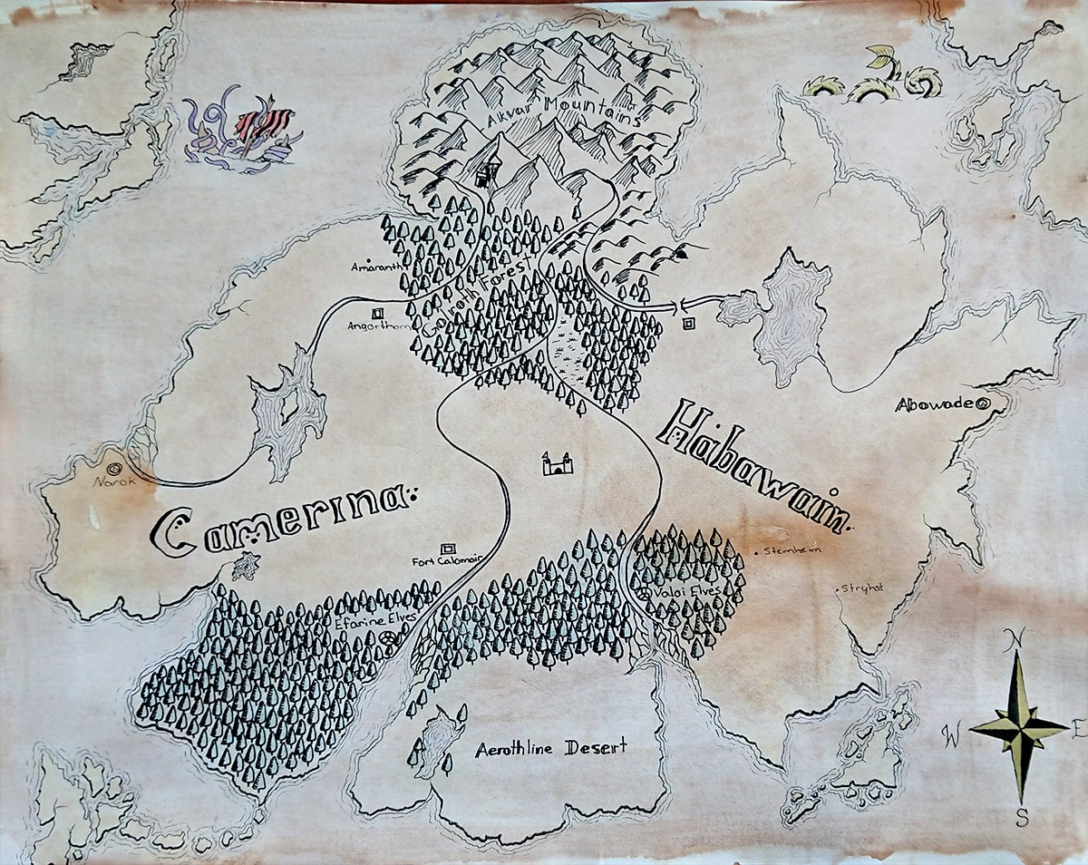 Camerina Adventures Map - Copyright ©2019 Lynette Vinck