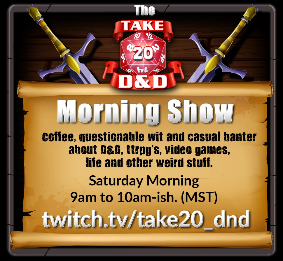 Take20 D&D Morning Show Announcement Graphics