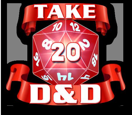 Take20 D&D Logo - Badge Style