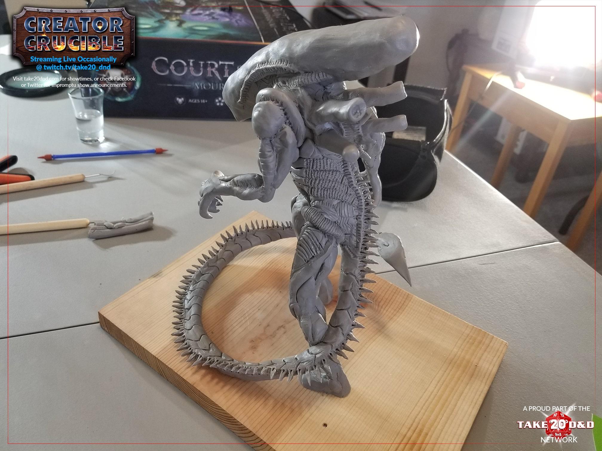 Creator Crucible - Xenomorph Tank Back