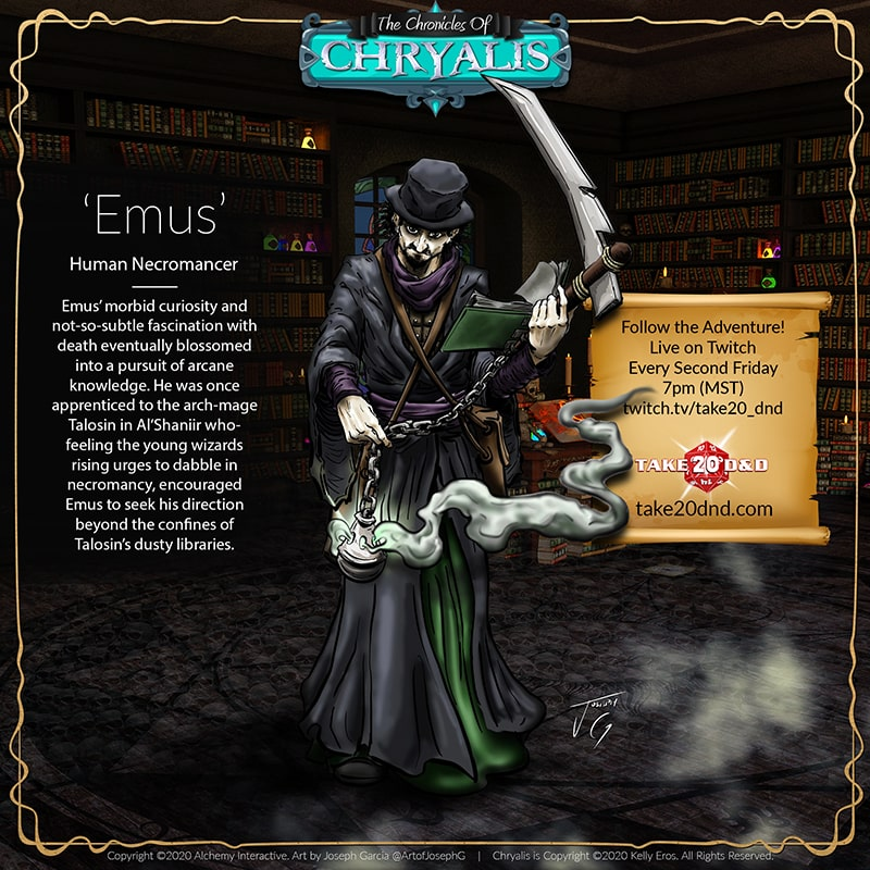 Chronicles of Chryalis - Emus the Human Necromancer