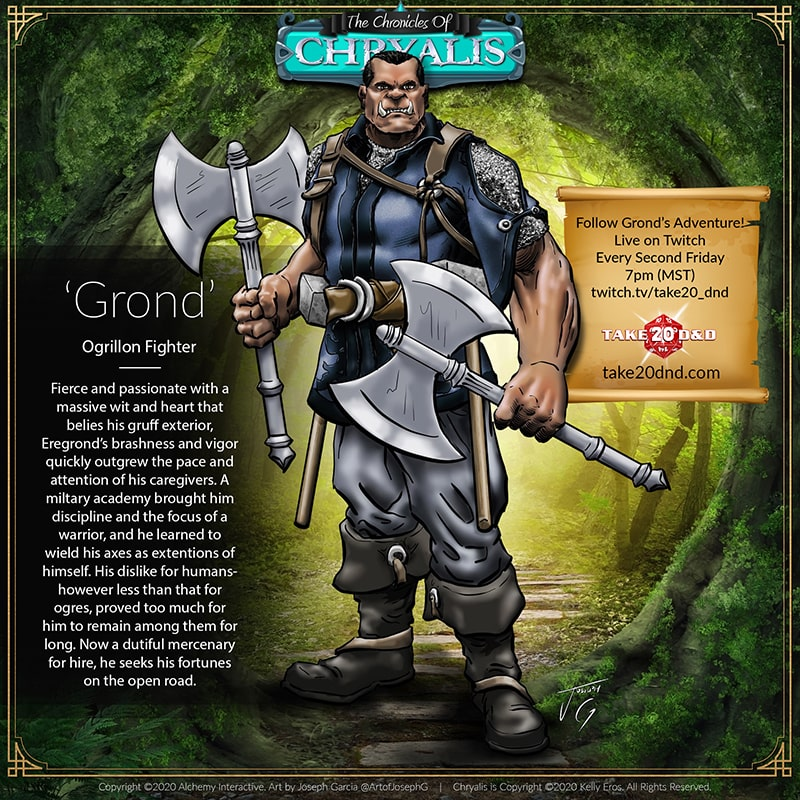 Chronicles of Chryalis - Grond the Ogrillon Fighter