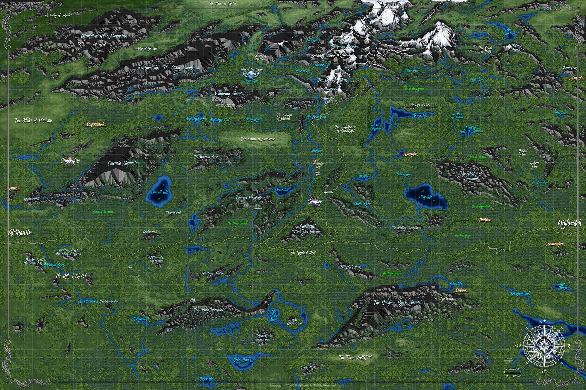 Azlantyr™ - Campaign Setting Map - Section E4