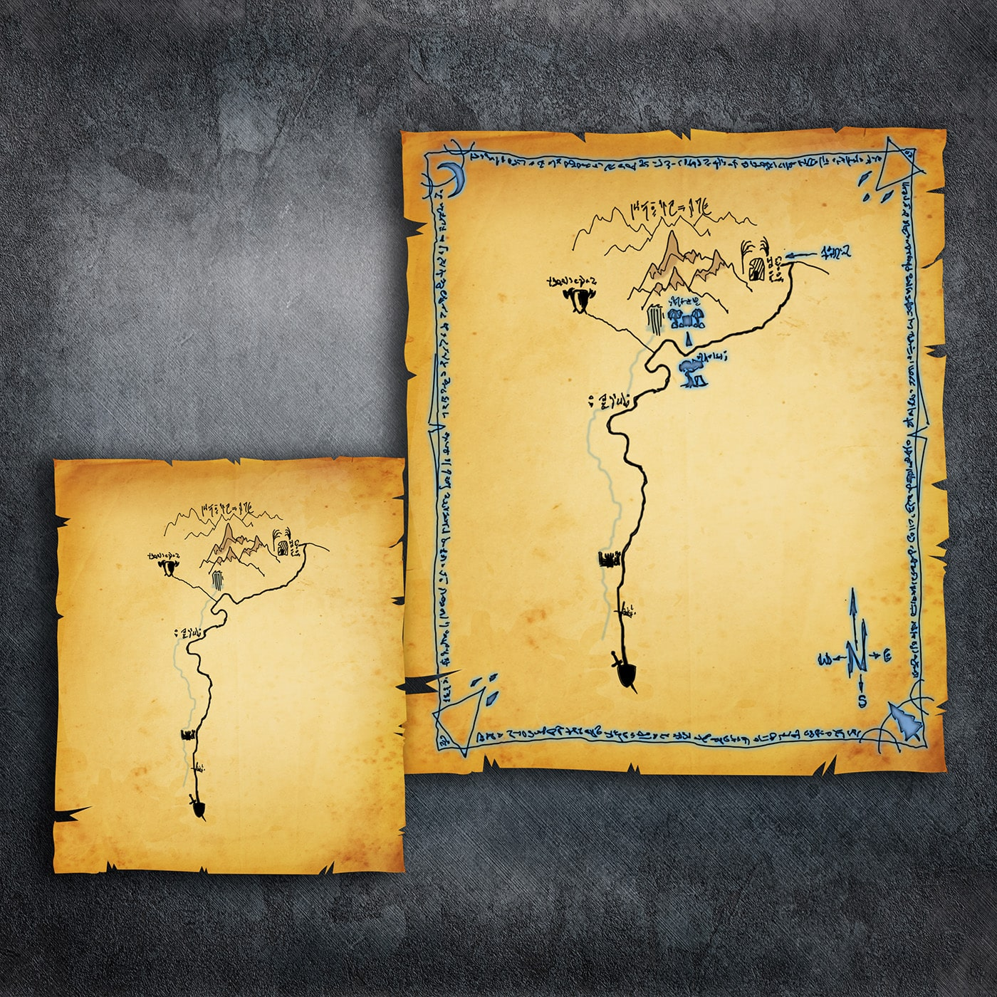 Old Enchanted Map