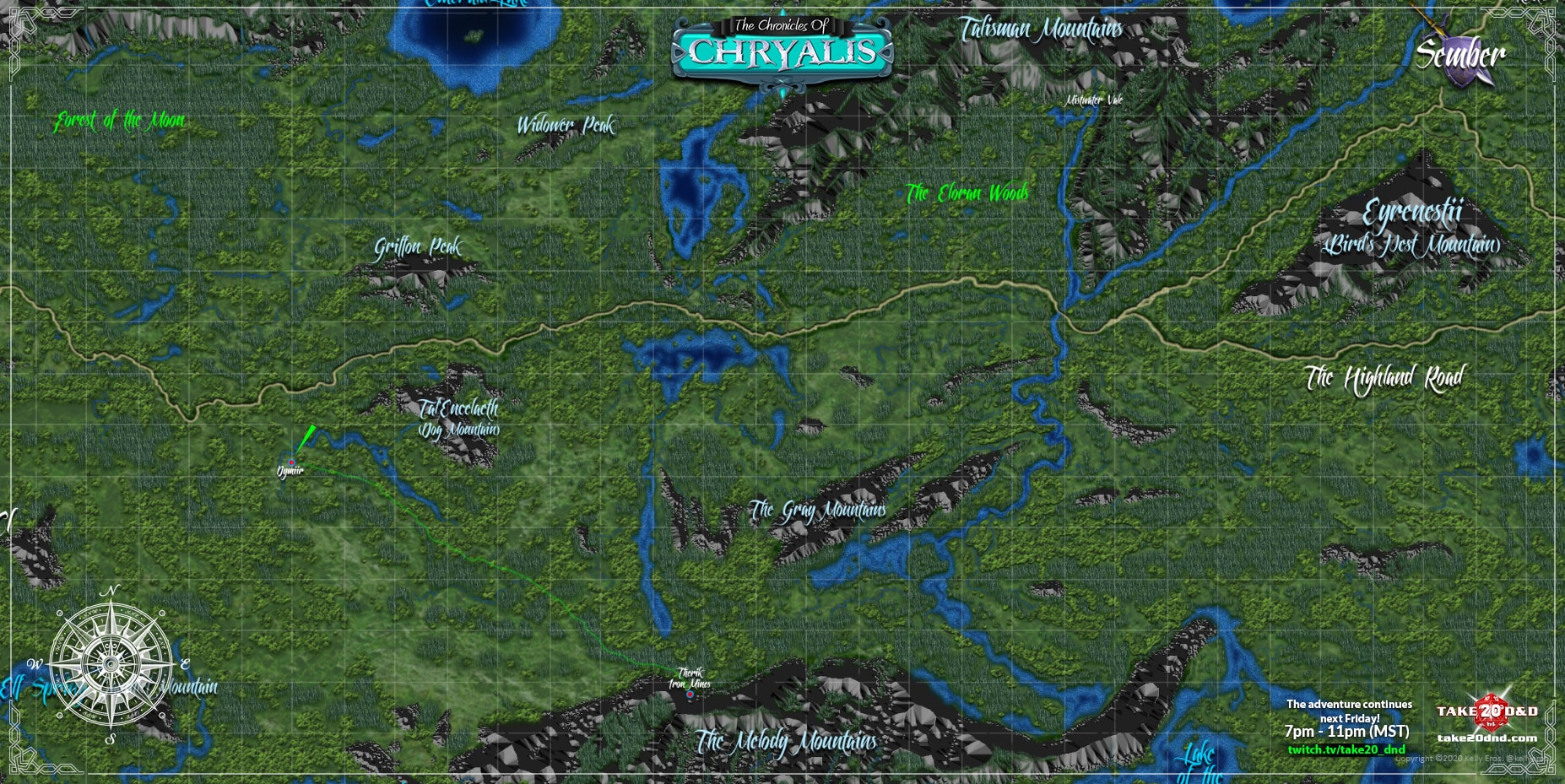 Player Explored Map - Chryalis™ Campaign Setting