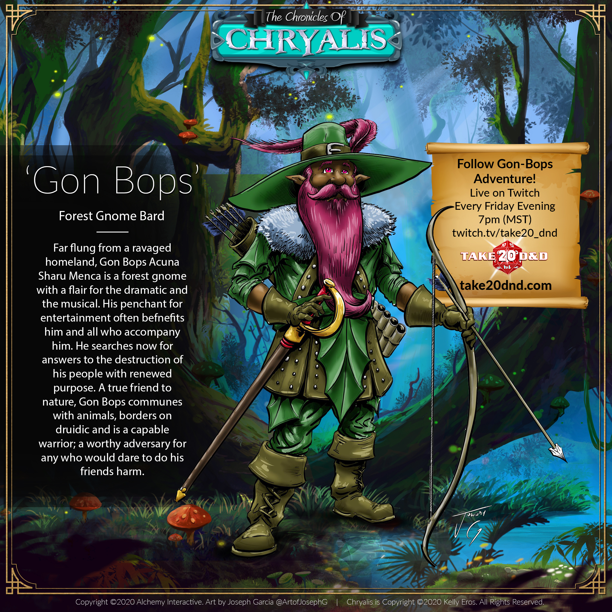 Chronicles of Chryalis - Gon Bops the Gnome Bard